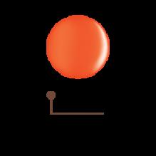 Цветной гель 4D - спелая мандаринка 16