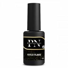 Топ глянцевый Gold Flake с золотыми хлопьями, без липкого слоя, 8 мл