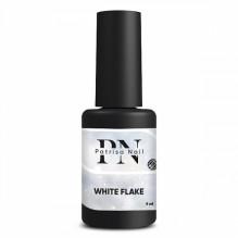 Топ глянцевый White Flake с белыми хлопьями, без липкого слоя, 8 мл